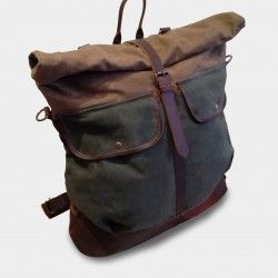 """Picture of Travel bag Backpack \\ """"San Diego \\"""" M at L instant Cuir"""