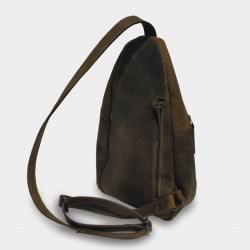 "Photo of Backpack Transversal Backpack ""Munich"" at L'instant Cuir."